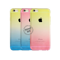 Gradient Color PC Case with Buttons for iPhone 6