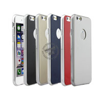 Soft TPU Case with PU Veener Phone Case for iPhone 6
