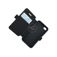 Wholesale Flip PU Leather Case With Side lock for iPhone 4