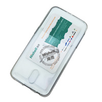 TPU Clear Mobile Phone Case with Card Slot for Samsung S6