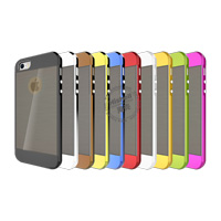 TPU Electroplate Phone Case with Black Wiredrawing for iPhone 5