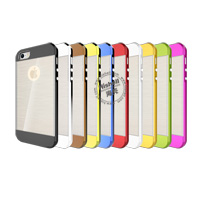 TPU Electroplate Phone Case with Clear Wiredrawing for iPhone 5
