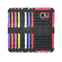 Hybrid PC and TPU Mobile Phone Case with Stand Function for Samsung S6