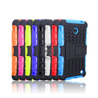 Hybrid PC and TPU Mobile Phone Case with Stand Function for Nokia Lumia 630