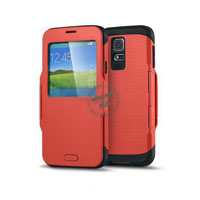 Fashionable Dormancy Smart Cover for Samsung S5
