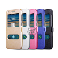 New Design Steel Wire Line Double Windows with PU Leather Case for Huawei C199