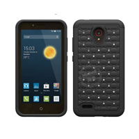 3 in 1 Diamond Combo Flip Cover for Alcatel one touch conquest