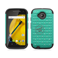 3 in 1 Diamond Combo Flip Cover for Motorola Moto E2