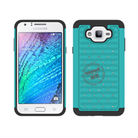 3 in 1 Diamond Combo Flip Cover for Samsung J7