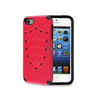 PC and TPU Shield Type Combo Mobile Phone Case for iPhone 5