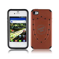 PC and TPU Shield Type Combo Mobile Phone Case for iPhone 4S