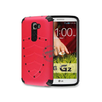 PC and TPU Shield Type Combo Mobile Phone Case for LG G2