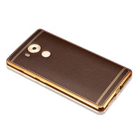TPU Electroplate case with leather effect for Huawei Mate8