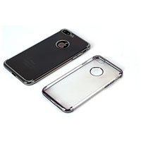 TPU upper and bottom electroplate case with back hole for iPhone 7