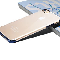 TPU upper and bottom electroplate phone case for iPhone 7