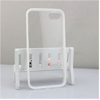 Skidproof clear pc frame tpu cell phone case for iphone 7