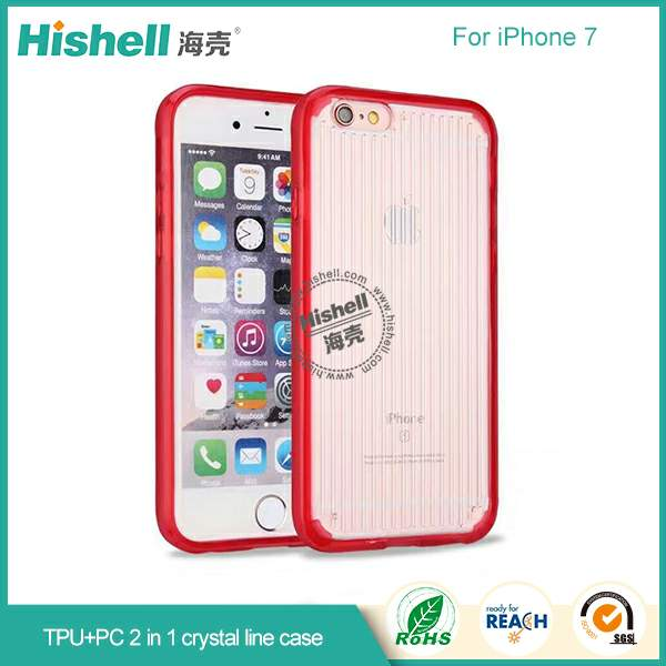 Mobile phone pc tpu case with crystal line clear phone case for iPhone 7