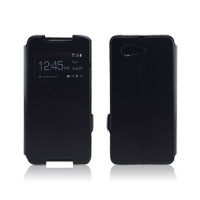 PU Leather Case Flip Cover with Side Lock for Sony Z1 Mini
