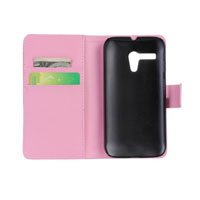 PU Leather Case with Side Lock for Motorola G