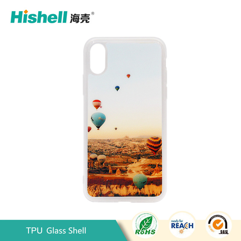 TPU Glass Case for iPhone X
