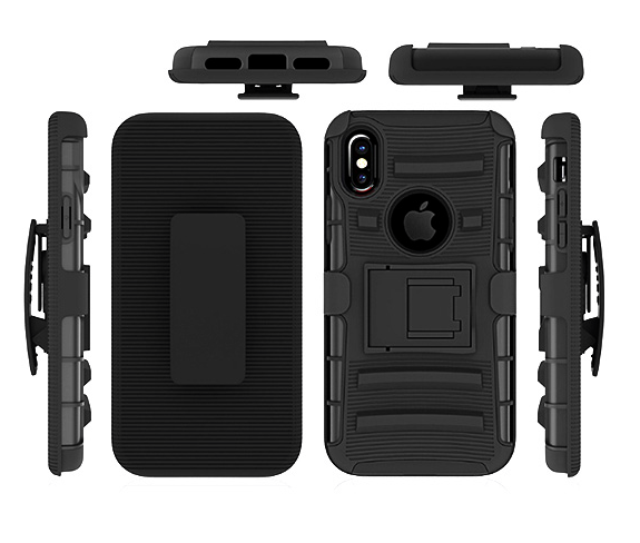 Mobile phone 3 in 1 armor case for iPhone X