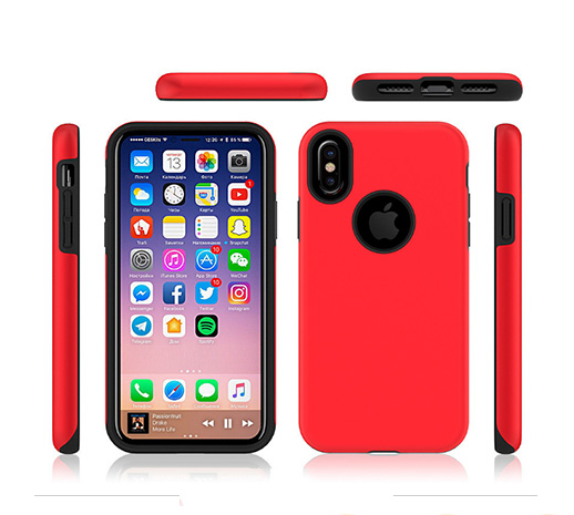 Cell phone PC+TPU combo case for iPhoneX