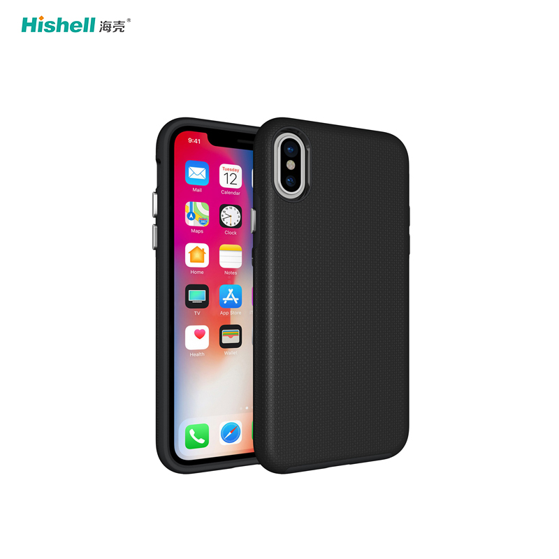 TPU And PC 2 in1 Armor Shockproof Phone Case For Iphone X