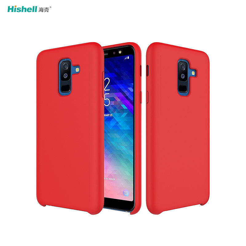 Liquid Silicone Shockproof Mobile Phone Case For Samsung Galaxy A6+