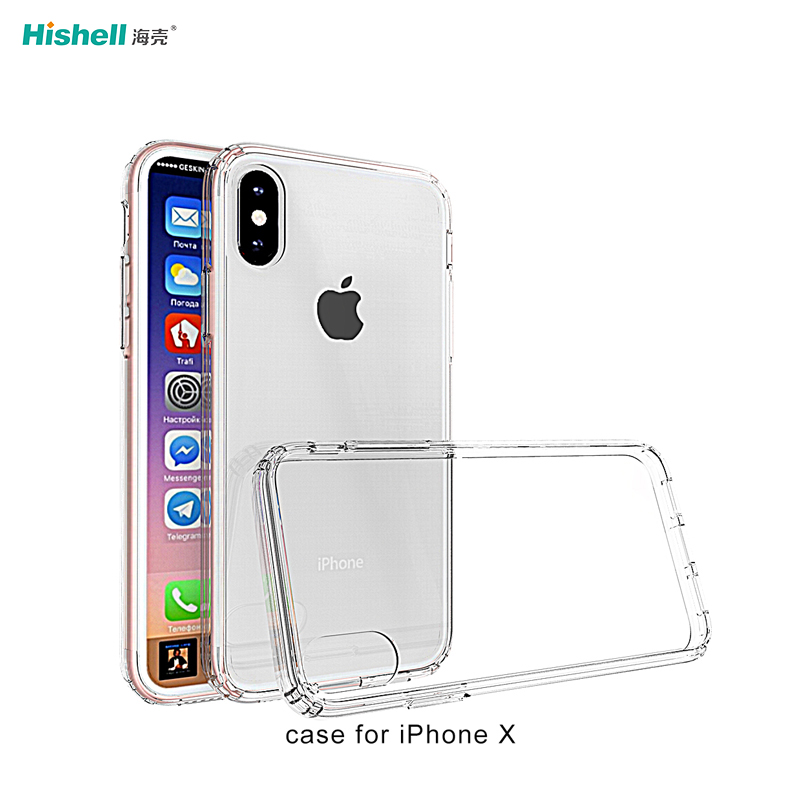 Tpu And Pc 2 In 1 Transparent Shockproof Phone Case For Iphone X