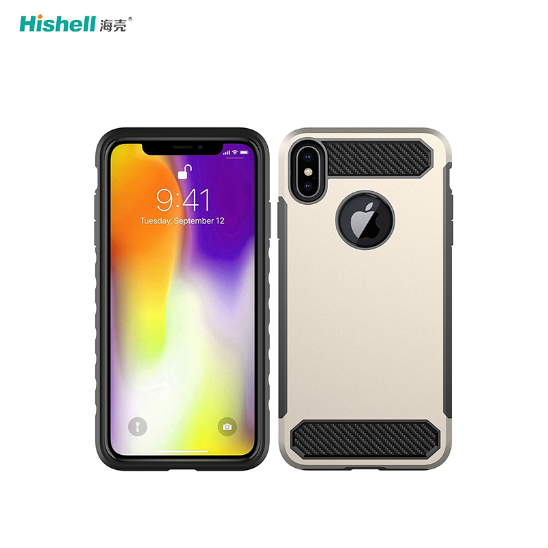 TPU PC 2 In 1 Shockproof Phone Cover For Iphone X