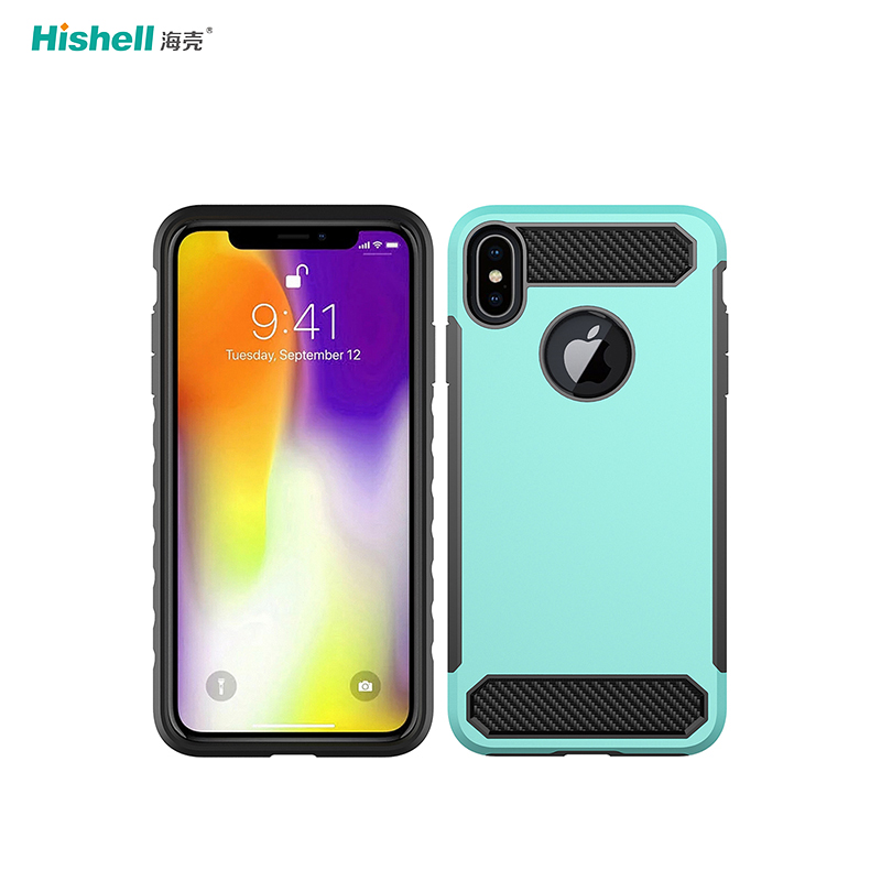 Colorful TPU PC 2 In 1 Shockproof Phone Cover For Iphone Xs Max