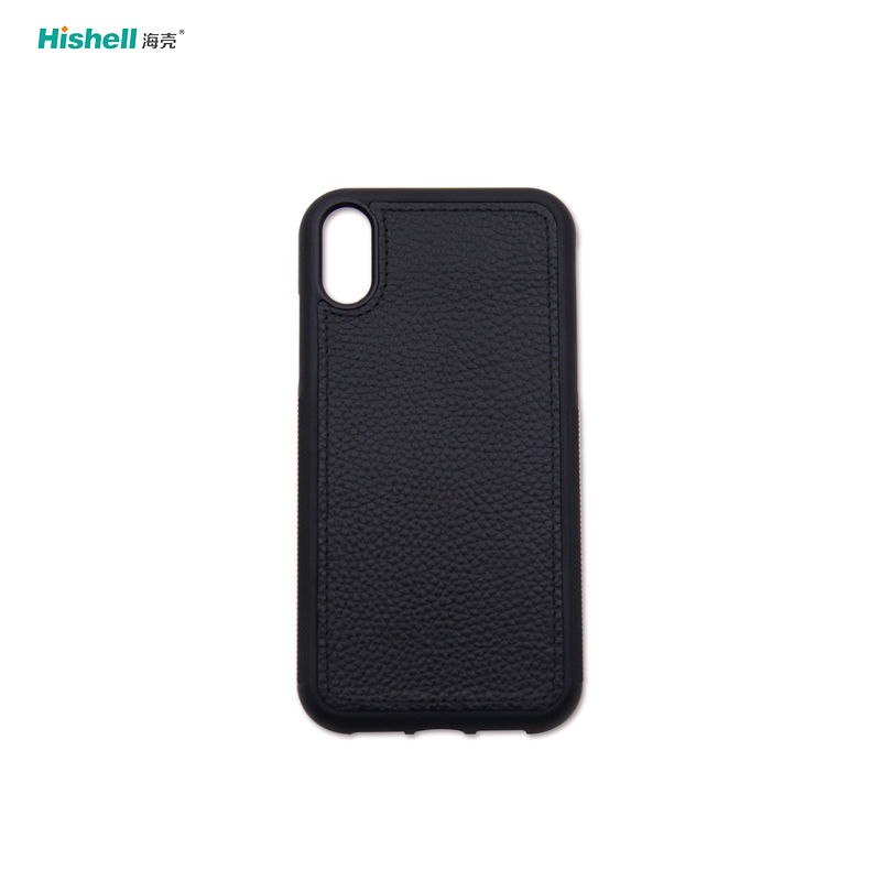 Shockproof Real Leather Mobile Phone Case For Iphone X