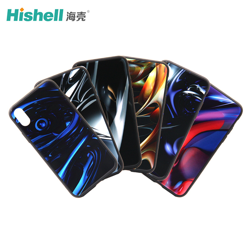 Colorful iPhone X Glass Phone Case