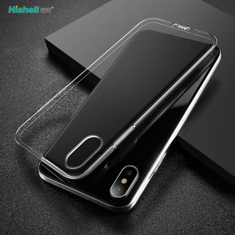 Soft TPU With Dustproof Plug Transparent Phone Case For Iphone XR