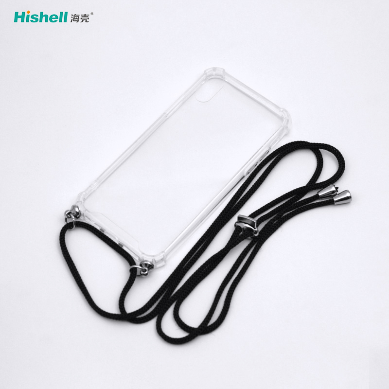 Acrylic Transparent Anti Fall Necklace Mobile Phone Case For IPhone X