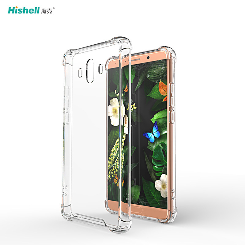 TPU Acrylic 2 In 1 Transparent Shockproof Phone Cover For Huawei Y5
