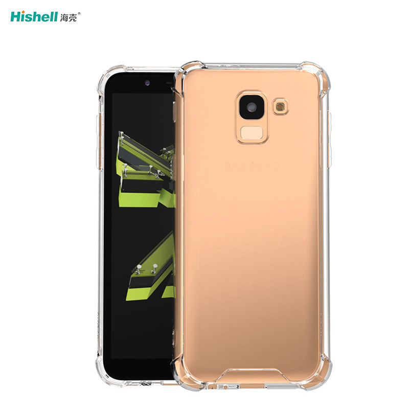 TPU Acrylic 2 In 1 Transparent Shockproof Phone Cover For Samsung S8