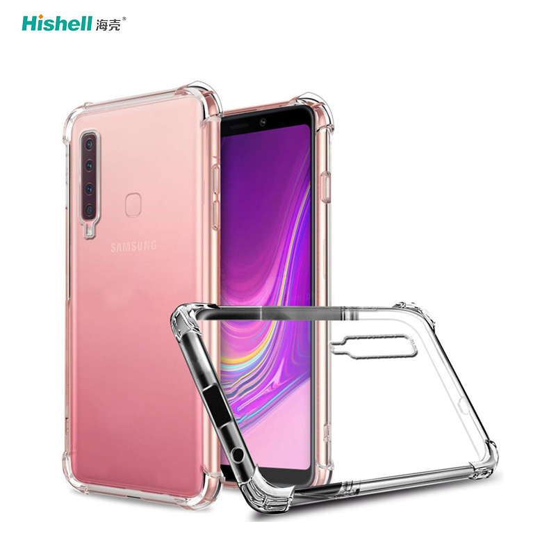 TPU Acrylic 2 In 1 Transparent Shockproof Phone Cover For Samsung Galaxy A9