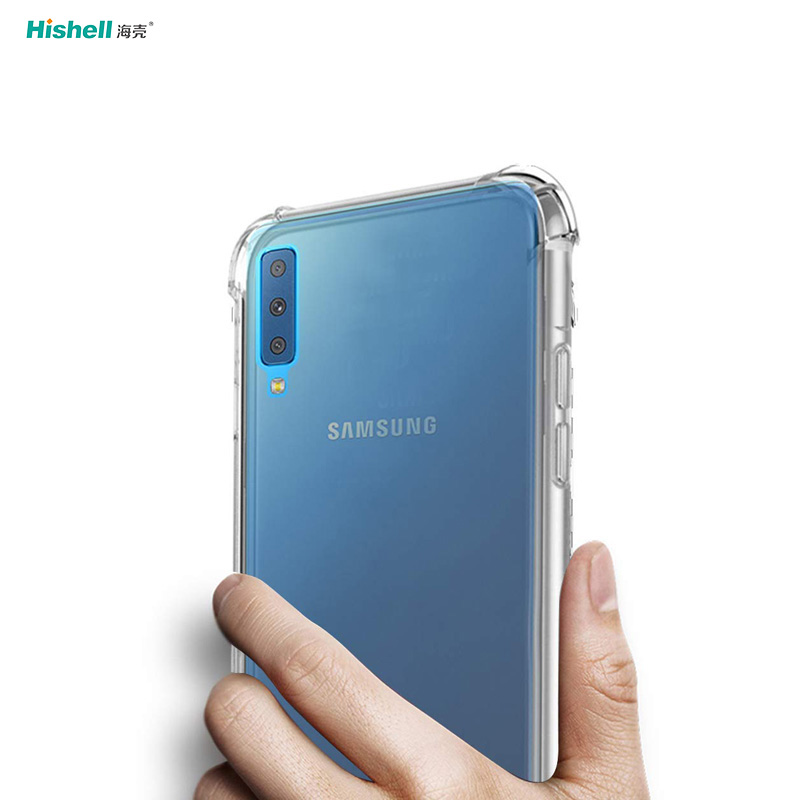 TPU Acrylic 2 In 1 Transparent Shockproof Phone Case For Samsung Galaxy A7 2018