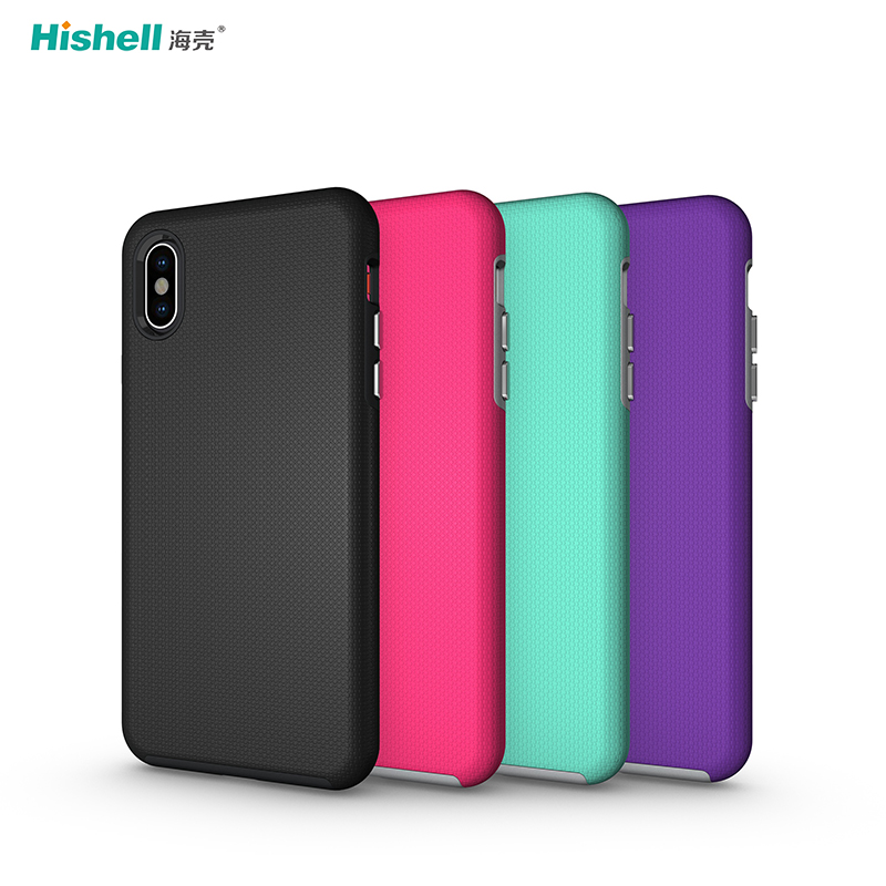 mix colors Non-slip Armor Shockproof Case TPU With PC Phone Case For iPhoneXR/XS/XS Max