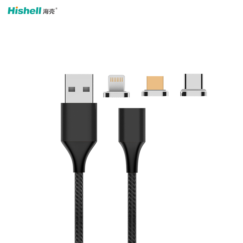 New Type-c Cable with Led Light Data Transfer USB Magnetic Cable