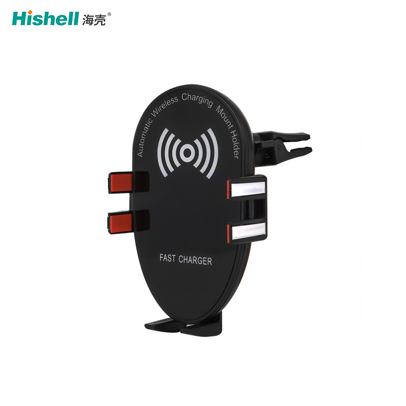 10W fast Infrared Automatic Induction Wireless Car Charger Phone Holder Wireless Charger