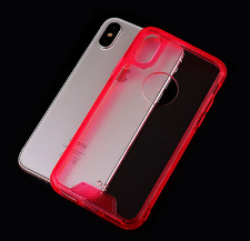 Cell phone Crystal Acrylic TPU Case for iPhoneX