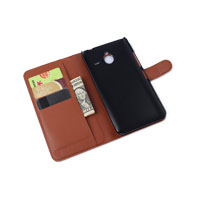 PU Leather Case Book Cover with Side Lock for Microsoft Lumia 640XL